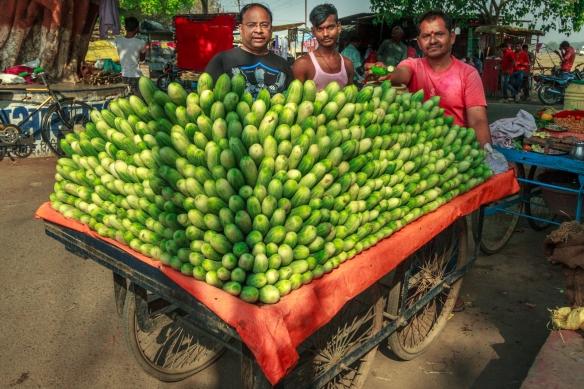 A Cucumber seller